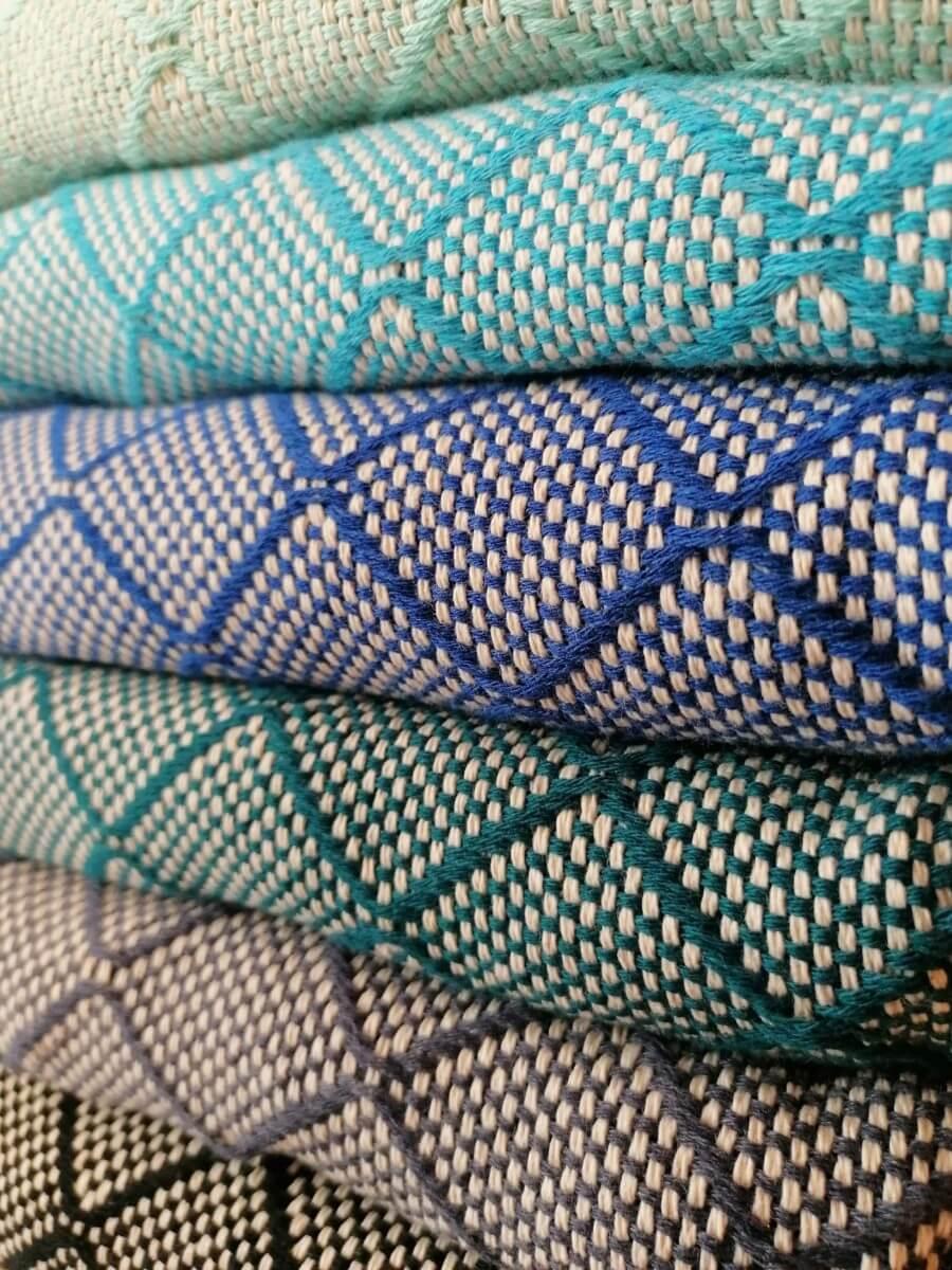 Mantas Algodão - Azulejo - VÁRIAS CORES