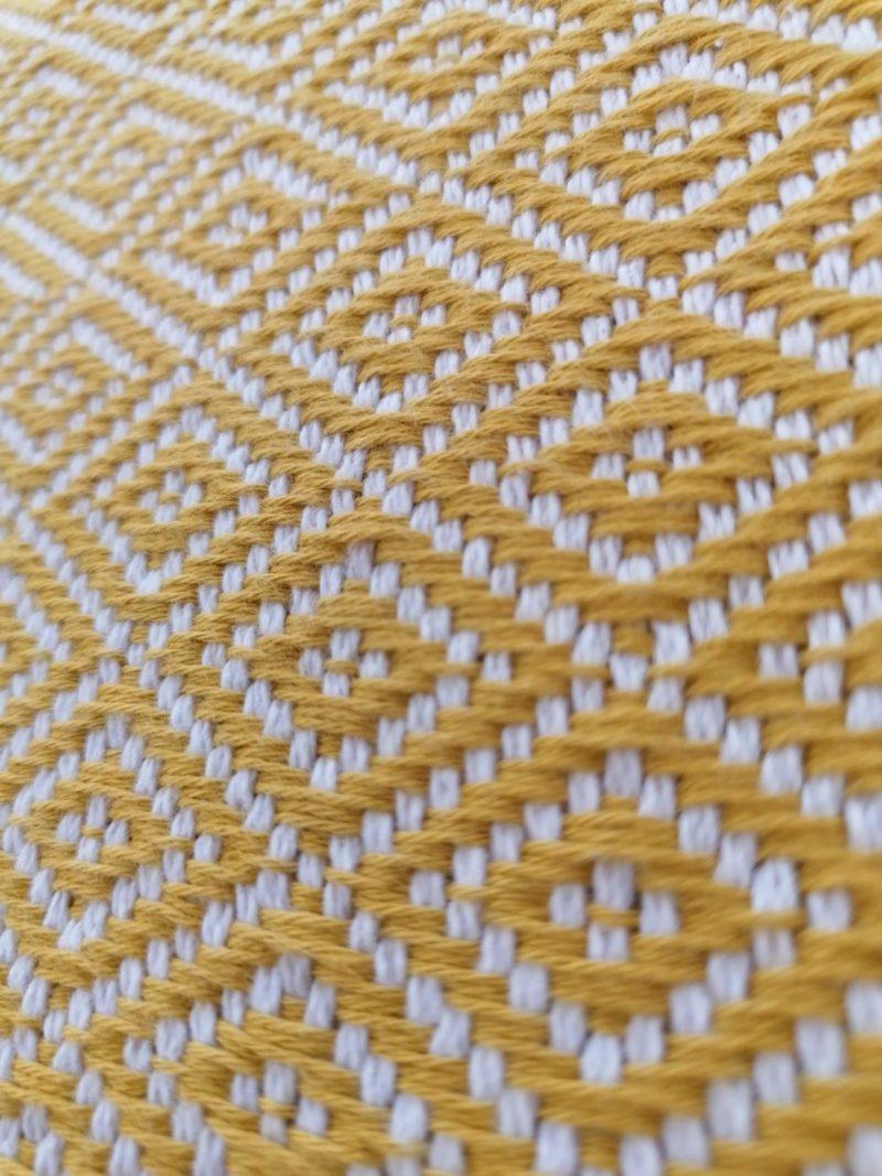Mantas Algodão - Diamante Amarelo - detalhe