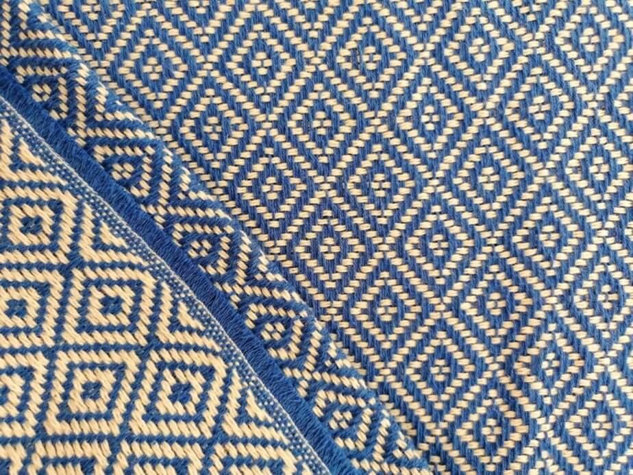 Mantas Algodão - Diamante Azul