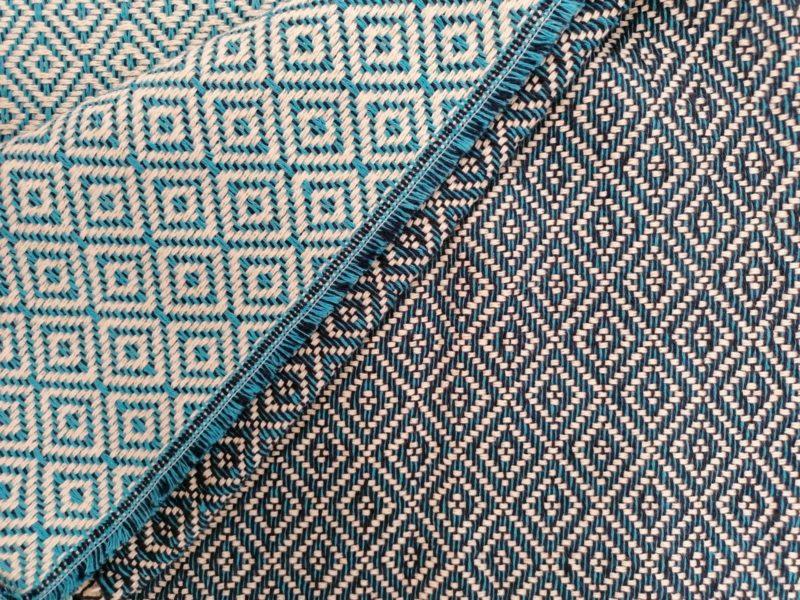 Mantas Algodão - Diamante Azul Escuro - detalhe