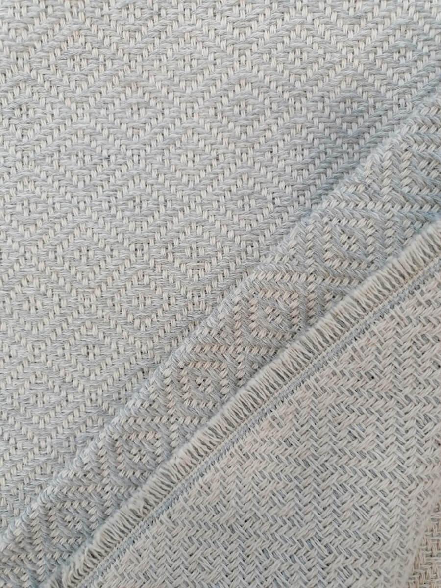 Mantas Algodão - Cinza Claro - detalhe