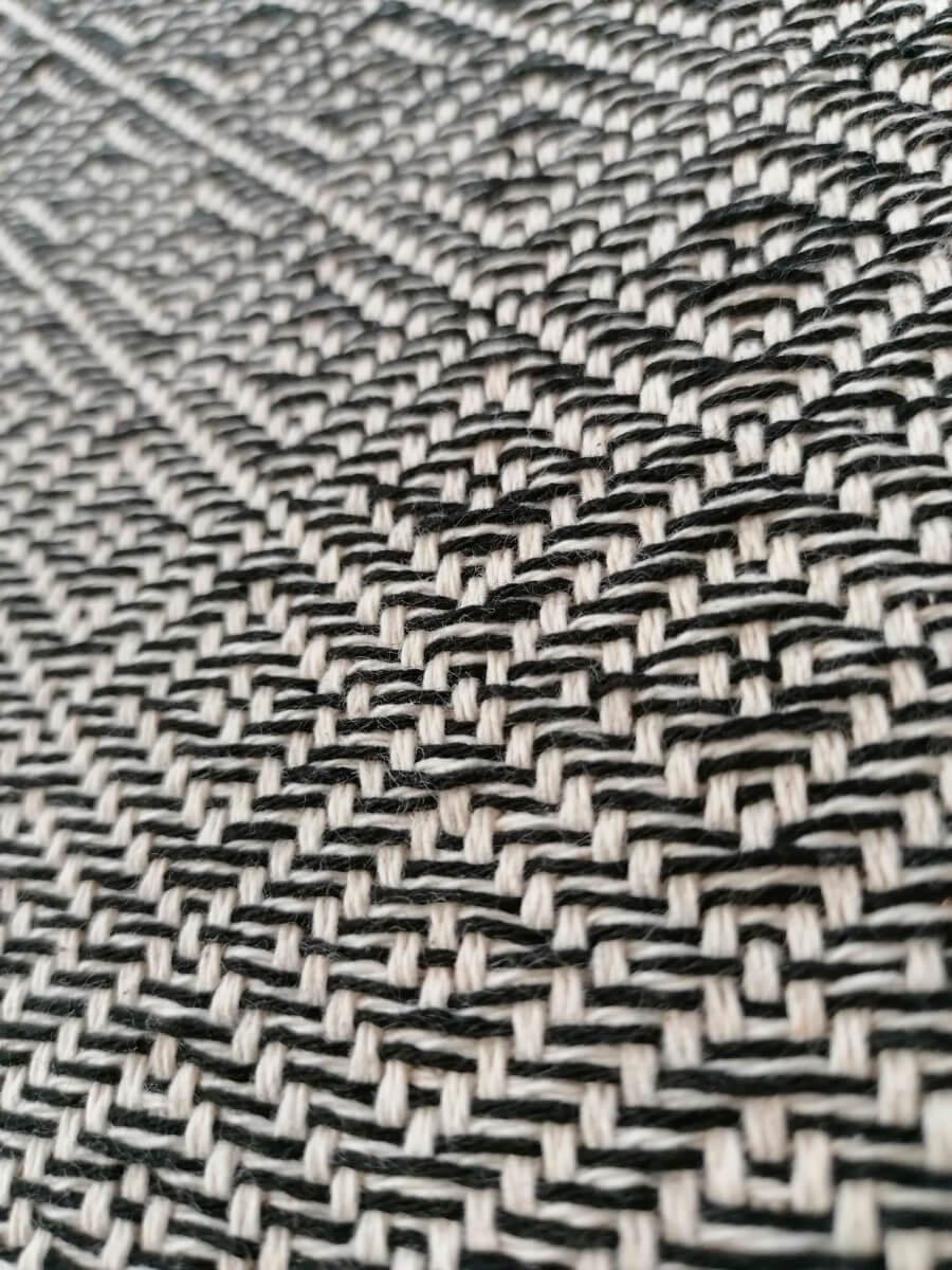 Mantas Algodao - Diamante Cinzento - detalhe