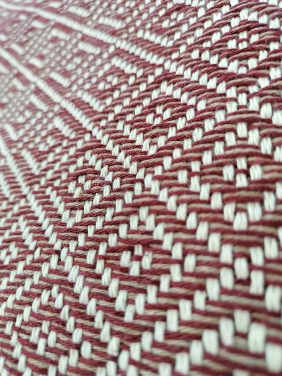Mantas Algodão - Diamante Rosa Velho - detalhe