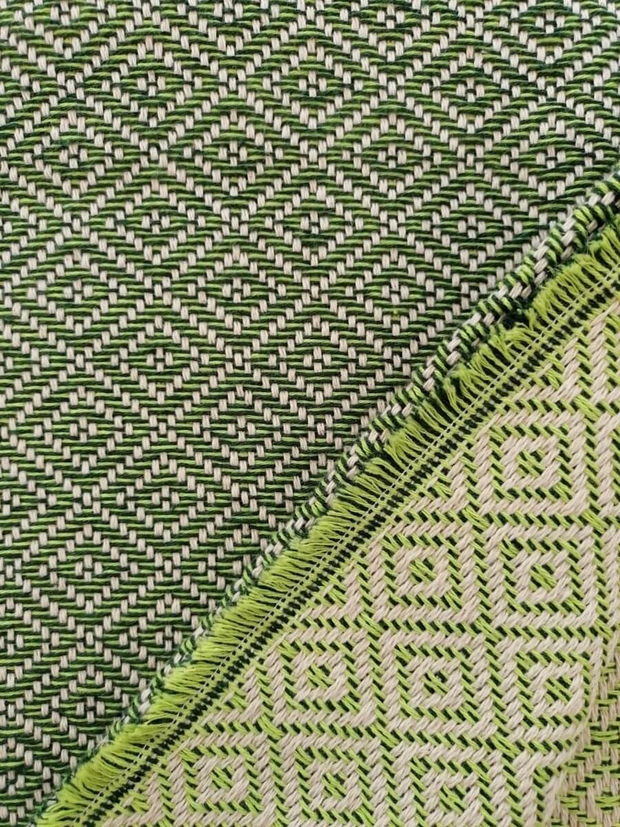 Mantas Algodão - Diamante Verde - detalhe