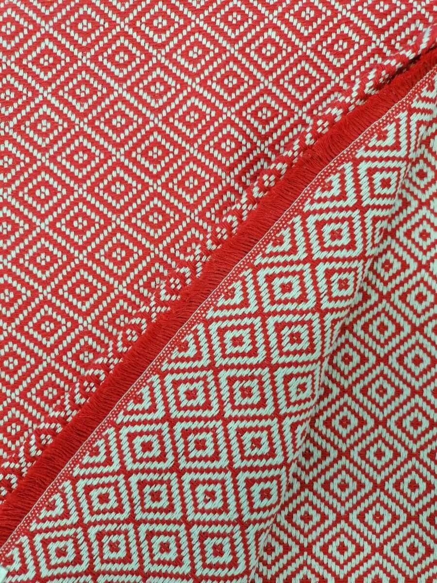 Mantas Algodão - Diamante Vermelho - detalhe